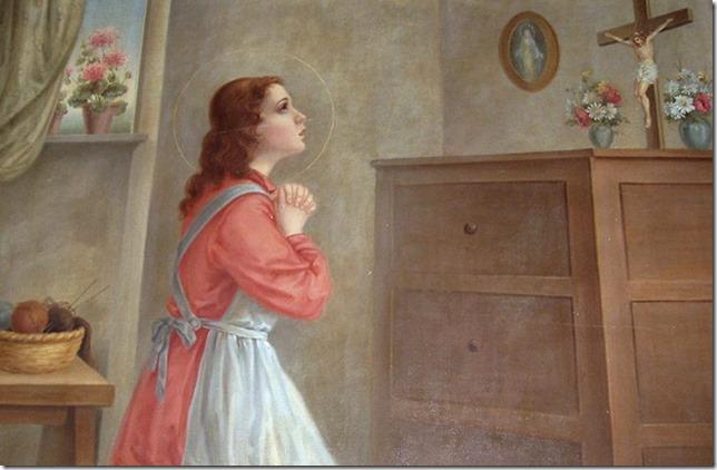 Saints Maria Goretti at prayer La Casa di Goretti via SanMariaJose Institute (2)