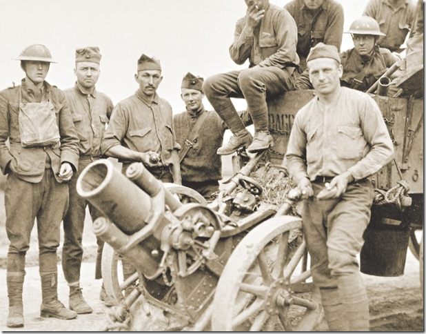 WW I Marines at Belleau Wood courtesy American Battle Monuments Commission