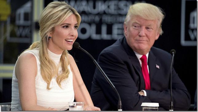 Trump Ivanka and her proud dad Andrew Harnik AP via NPR