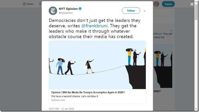 Snip 2019 01 11 Frank Bruni NYT Media Accomplices
