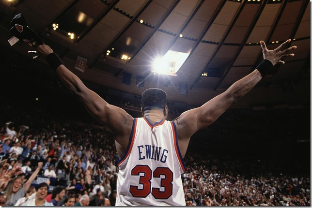 NBA Knicks Number 33 Patrick Ewing courtesy NBA Twitter