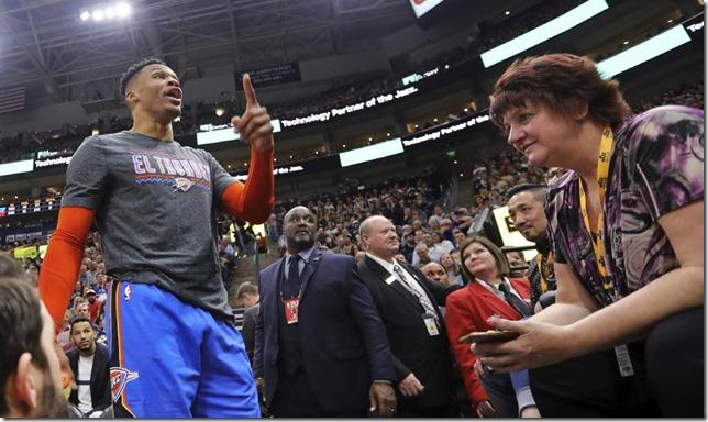 Thunder Westbrook Basketball