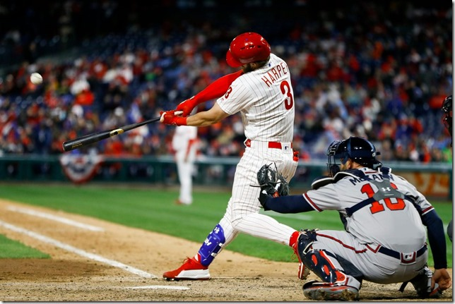 MLB Phils 2019 03 31 Phils vs Braves in Philly Harper parks it Matt Slocum AP via Washington Post