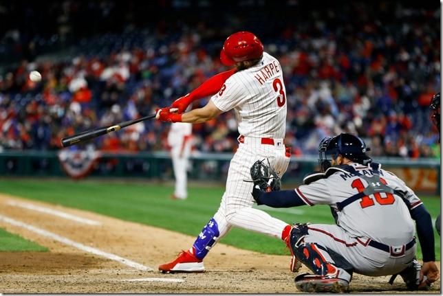 MLB Phils 2019 03 31 Phils vs Braves in Philly Harper parks it Matt Slocum AP via Washington Post