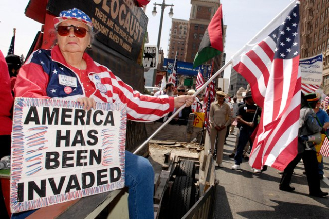 GOP America has been invaded Anti immigrant protest 2012 AP photo by Chris Pizzello via Salon