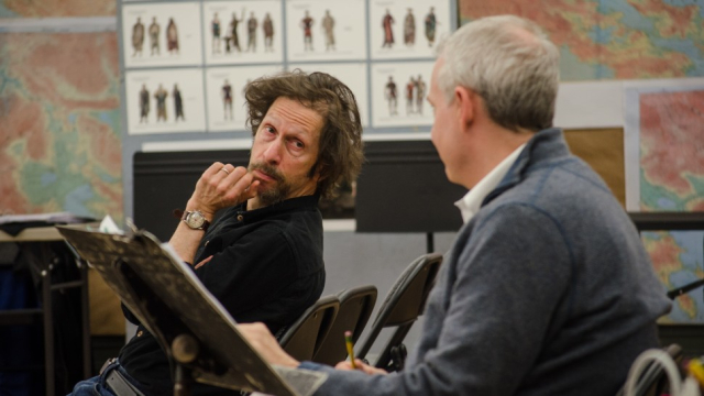 Play Socrates by Tim Blake Nelson Nelson and Doug Hughes Photo by Garlia Cornelia Jones courtesy of Playbill