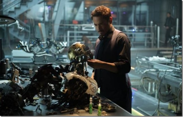 Avengers 2 Ultron Tony contemplates his monster