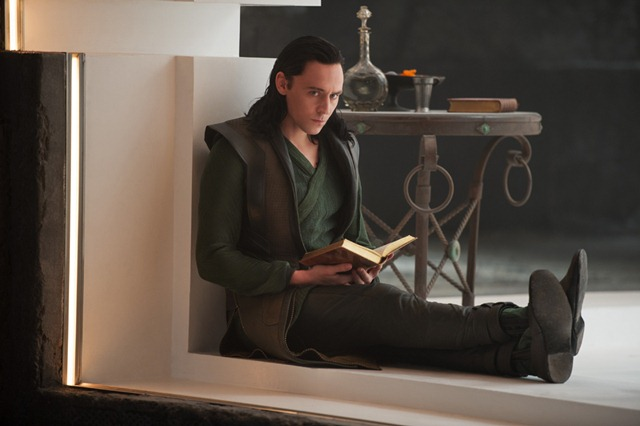 Thor Dark World Loki grieving reading and scheming