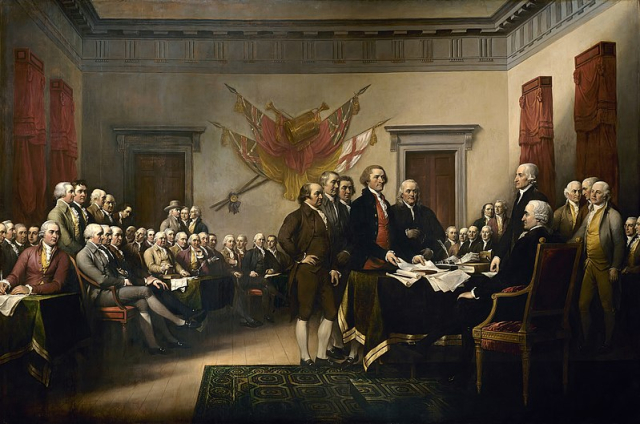 Painting Trumball Declaration of Independence