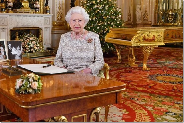 Queen Elizabeth II We are not amused the Queen and her gold piano via Mike Drucker Twitter