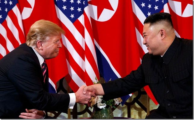 Trump My what a firm grip you have Trump shakes hands with Kim Jong Un 2 27 19 Evan Vucci AP via Washington Post