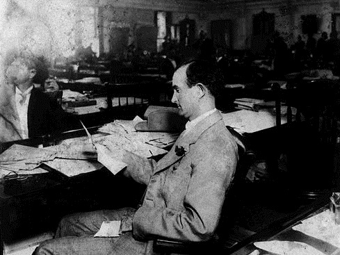 LBJ Sam Ealy Johnson at work in the TX state legislature circa 1905 LBJ Library via Wikipedia