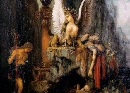 Painting Myth Oedipus the Wayfarer Detail Gustav Moreau 1888 WikiArt