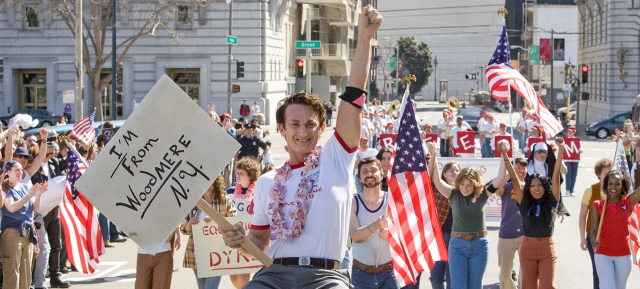 Movies Milk Sean Penn the democratic leader My name is Harvey Milk and I'm here to recruit you