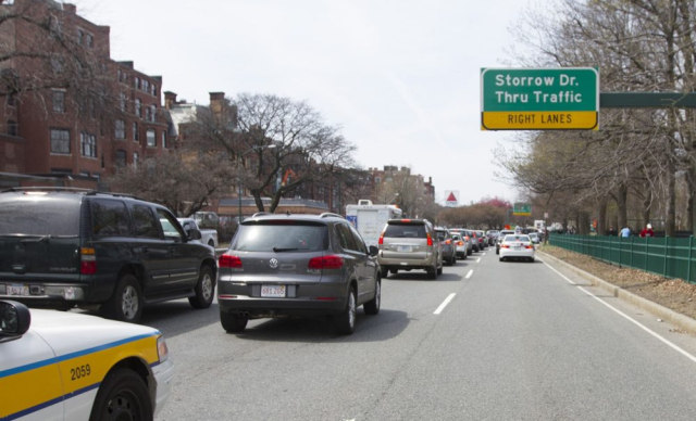 Boston Storrow Drive Traffic on Storrow Drive in 2016 Joe Difazio courtesy of WBUR