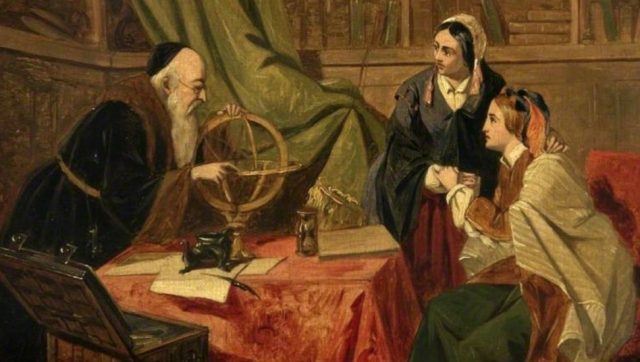 Painting Consulting the Oracle Detail Mid 19th Century Henry Nelson ONeil Glasgow Museums