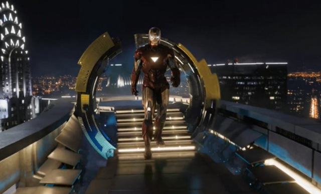 Avengers First Iron Man coming in for a landing