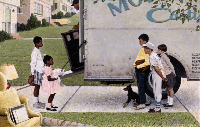 Rockwell New Kids in the Neighborhood courtesy of the Norman Rockwell Museum