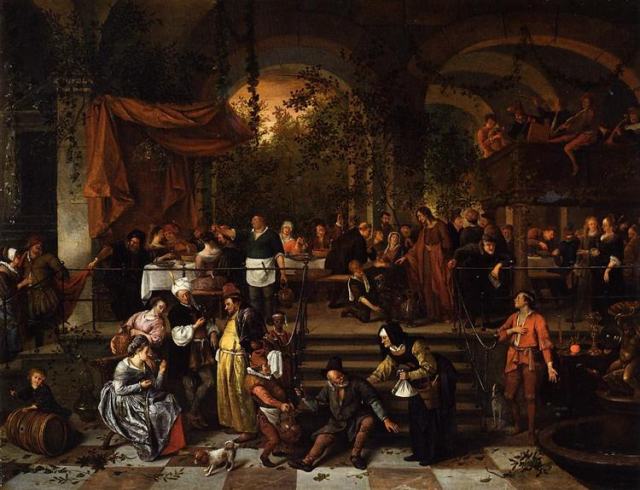 Painting Bible Steen Wedding Feast at Cana wikiart
