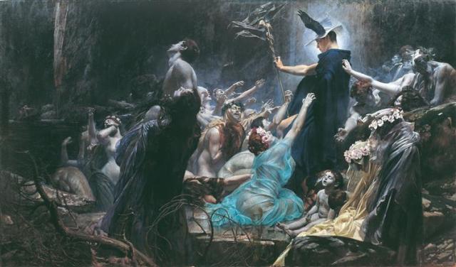 Painting Souls of Acheron Adolf Hiremy Hirschl 1898 Wikipedia