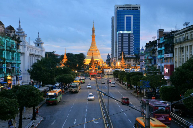 Travel Yangon Twilight in Yangon Myanmar Matt Long Landlopers