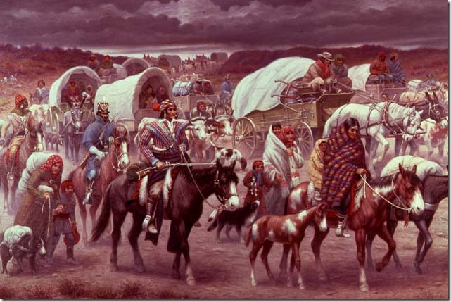 Painting Robert Lindneux Trail of Tears courtesy of the Granger Collection via PBS