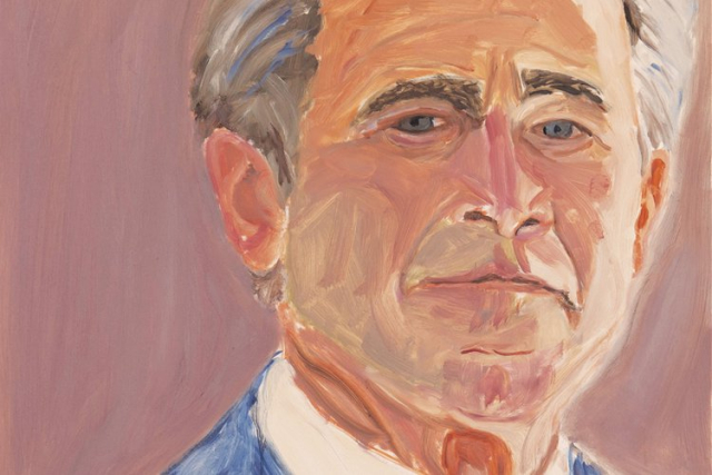 Bush George W Self-portrait via Smithsonian
