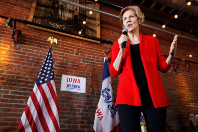 Warren Heros Journey 2020 Democratic presidential candidate Sen Elizabeth Warren speaks to local residents during an organizing event Friday in Dubuque Iowa AP Photo Charlie Neibergall via Everett Herald