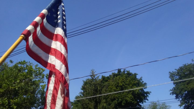 2019 07 04 Old Glory flying over the Mannionville Ranch