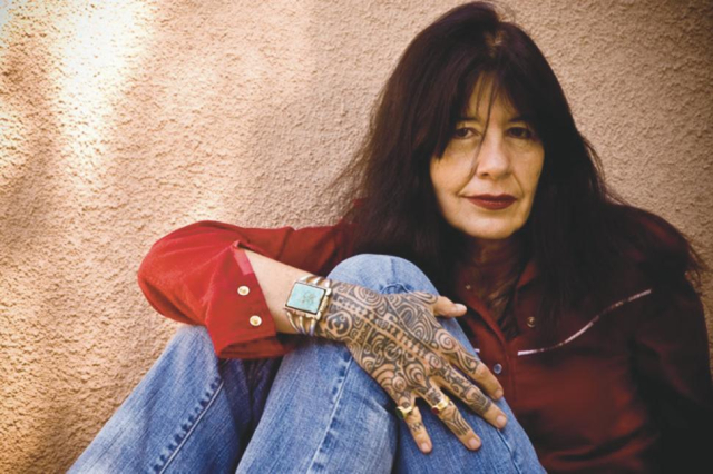 Poets and Writers Joy Harjo Copyrighted photo by Karen Kuehn Courtesy of Blue Flower Arts via the Poetry Foundation