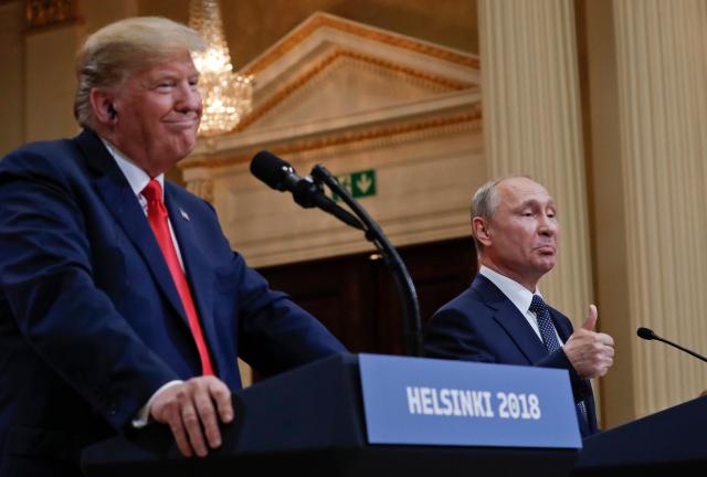 Trump Collusion What Collusion Trump and Putin Helsinki 2018 AP Photo Pablo Martinez Monsivias via ABC3340