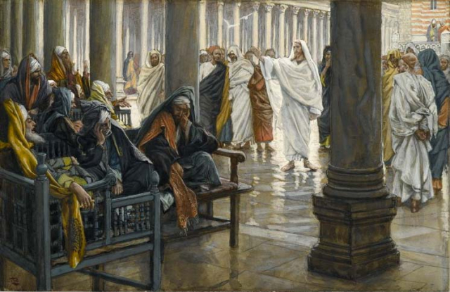 Painting Bible Woe Unto You Scribes and Pharisees circa 1890 James Tissot Brooklyn Museum