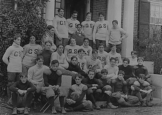 FDR Young Franklin as a member of the Groton football team FDR Library