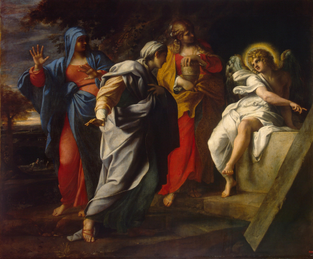 Bible Painting Annibile Carracci The Holy Women Outside Christs Tomb The Hermitage