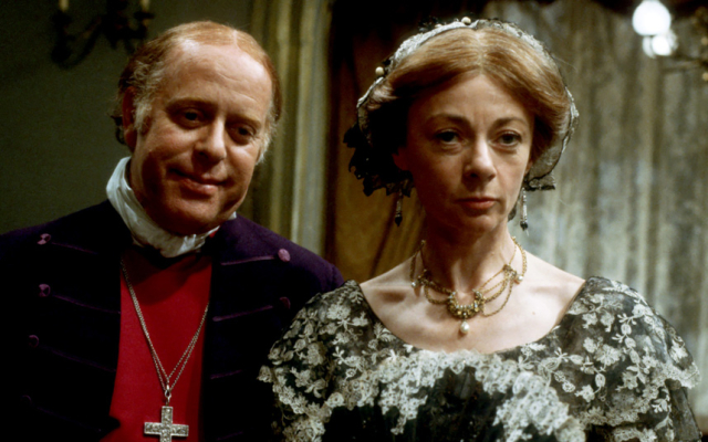Trollope Barchester Towers BBC 1982 Clive Swift and Geraldine McEwan as Bishop and Mrs Proudie