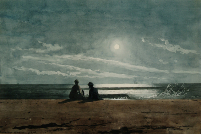 Painting Homer Moonlight via Wikimedia
