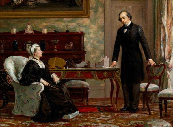 Victorians Queen Victoria and Benjamin Disraeli Berlin Treaty 1878 Forbes via English Heritage - Edited