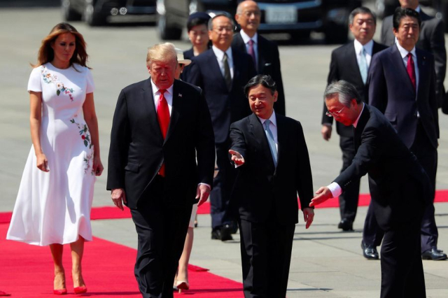 Trump Japan Donald and Melania recieve a rock stars welcome from Emperor Naruhito May 24 2019 Jonathan Ernst Reuters via Paris Match