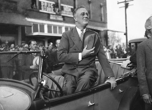 FDR .Saluting the flag Warm Springs Ga. Dec 1 1933. AP Via The Washington Post