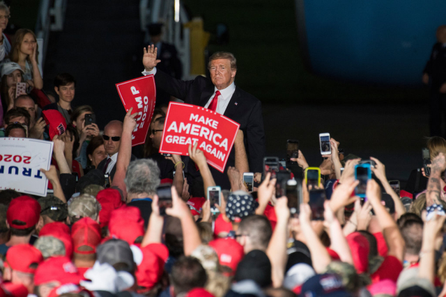 Trump Reelection Rally PA Williamsport Regional Airport May 20 2019 Tom Williams CQ Roll Call file photo