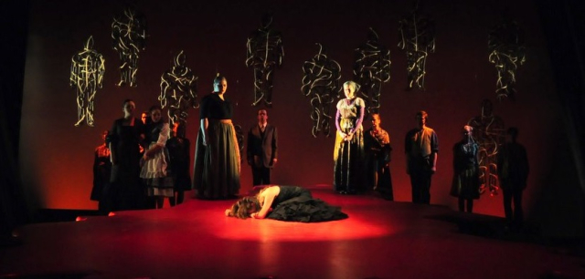 Lorca Scene from Blood Wedding James Madison U Spring 2009 set design and photo copyright Richad Finkelstein 2