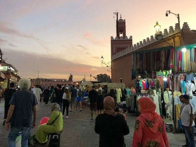 Postcard Nance Morocco 2019 10 22 Sunset Marrakech - Edited