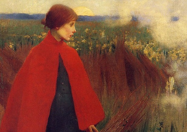 Painting Marianne Stokes  Detail The Passing Train 3 via Wikimedia Commons