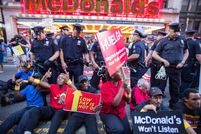 Fast Food Worker Strike August 30 2014 Angel Franco New York Times
