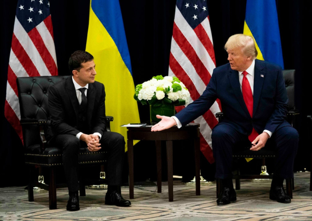 Trump Do we have a deal Trump meets with Ukrainian President Volodymyr Zelensky at the InterContinental New York Barclay on Sept. 25 2019 Doug Mills NYT