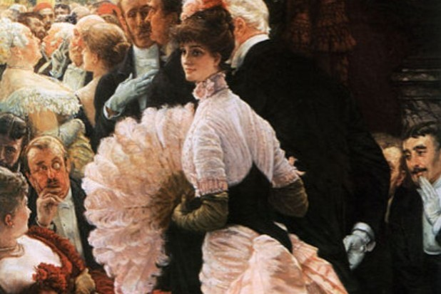Painting James Tissot A Woman of Ambition circa 1883 via Wikimedia - Edited (1)