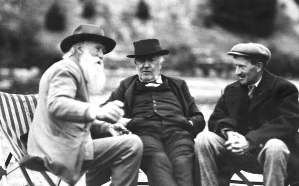 Edison Burroughs Edison Firestone 1916 via Henry Ford flickr - Edited