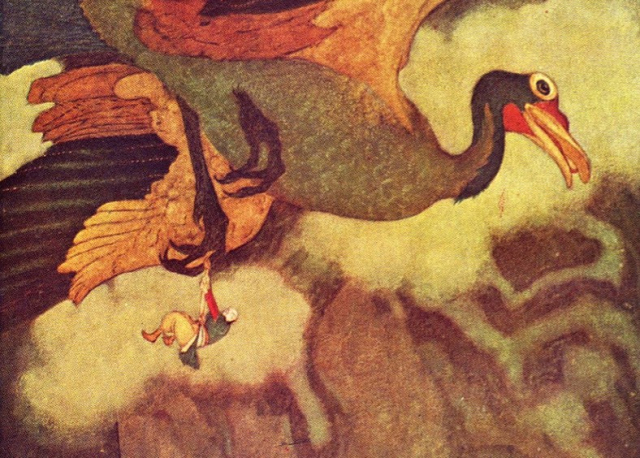 Illustration Dulac Sinbad and the Rokh Dulant - Edited