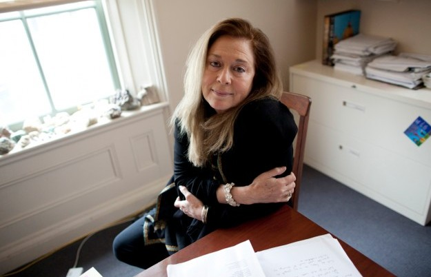 Poets and Writers Jorie Graham in her office at Harvard around 2012 Stephanie Mitchell Harvard News Service - Edited