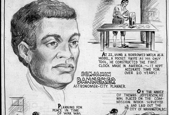 History Benjamin Bannekar Astronomer City Planner Charles Henry Allston 1943 National Archives via Wikipedia  - Edited